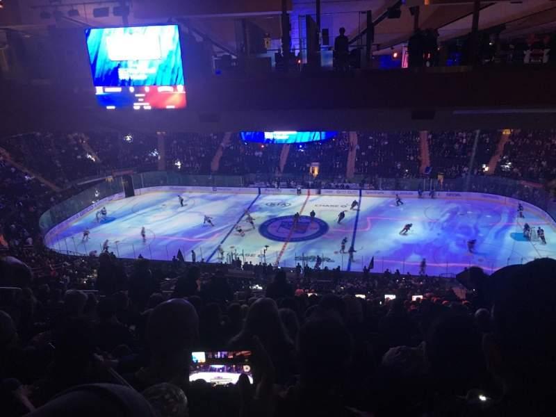 Uitzicht voor Madison Square Garden Vak 225 Rij 22