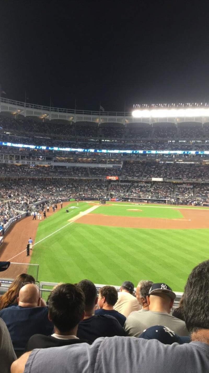 Uitzicht voor Yankee Stadium Vak 205