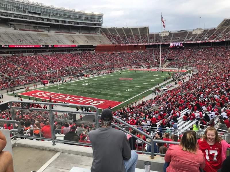 Ohio Stadium, vak: 32b, rij: 1, stoel: 12
