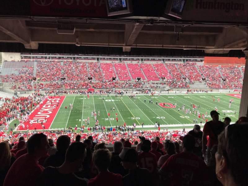 Ohio Stadium, vak: 22B, rij: 11, stoel: 6