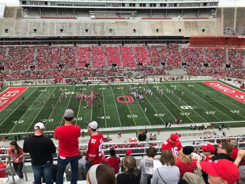 Ohio Stadium, vak: 22c, rij: 10, stoel: 30