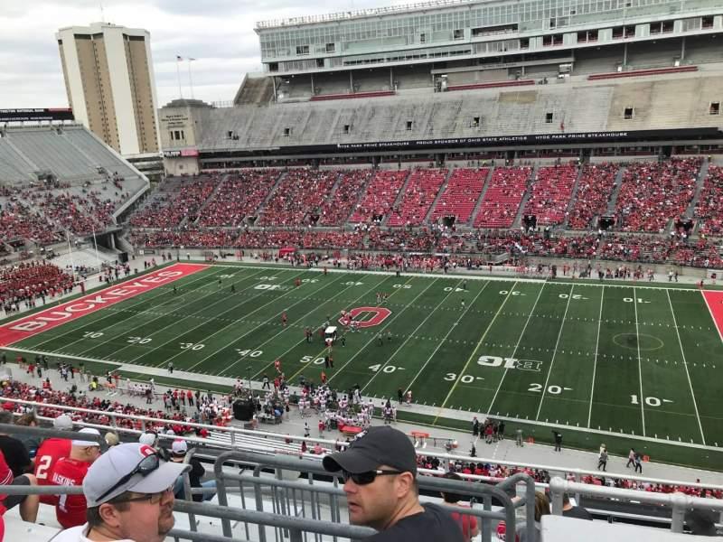 Ohio Stadium, vak: 18c, rij: 10, stoel: 11