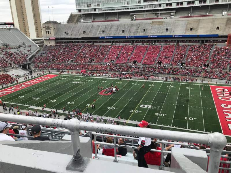 Ohio Stadium, vak: 18c, rij: 12, stoel: 6