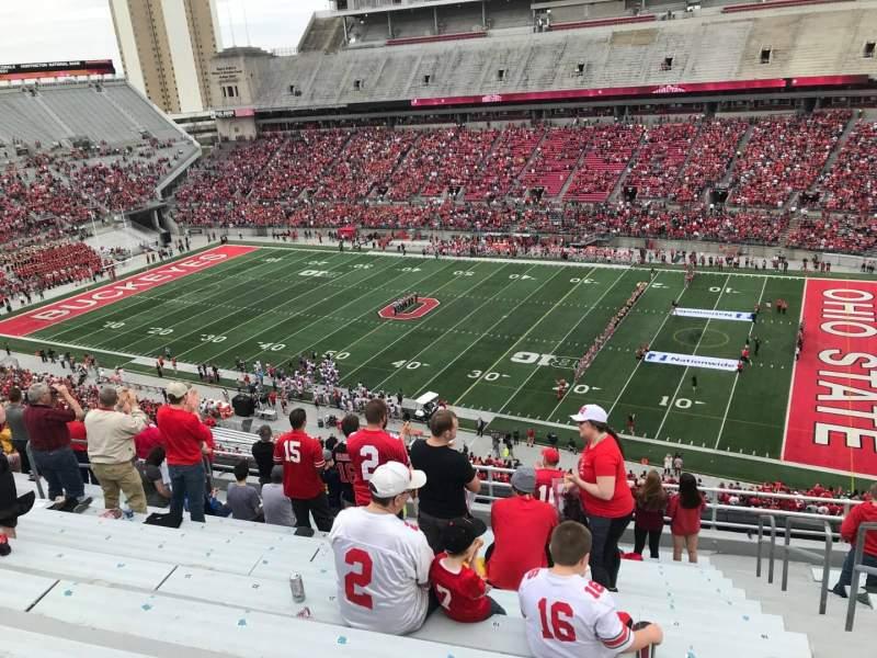Ohio Stadium, vak: 16c, rij: 13, stoel: 17