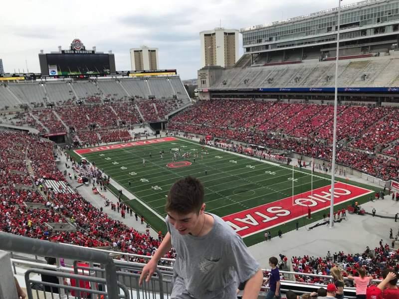 Ohio Stadium, vak: 8c, rij: 11, stoel: 30