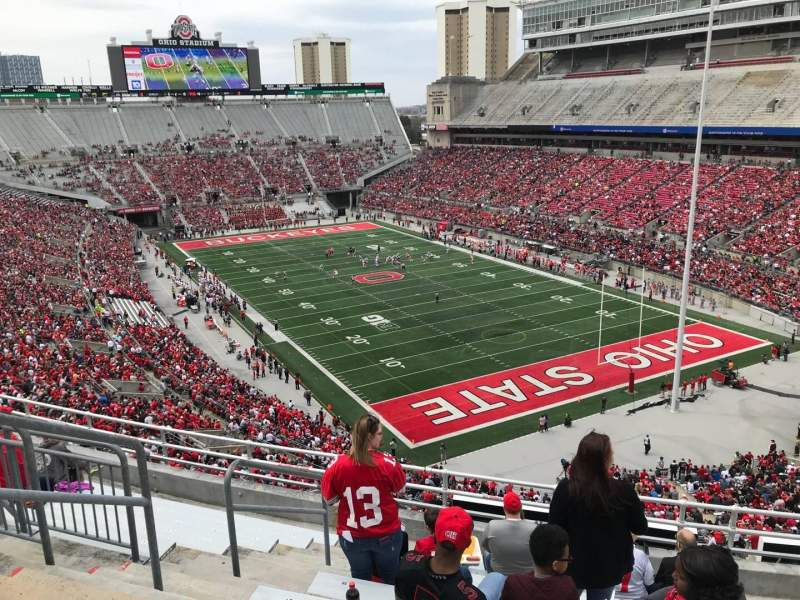 Ohio Stadium, vak: 8c, rij: 10, stoel: 26