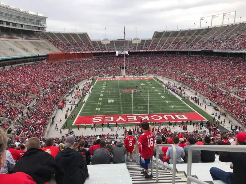 Ohio Stadium, vak: 37B, rij: 30, stoel: 1