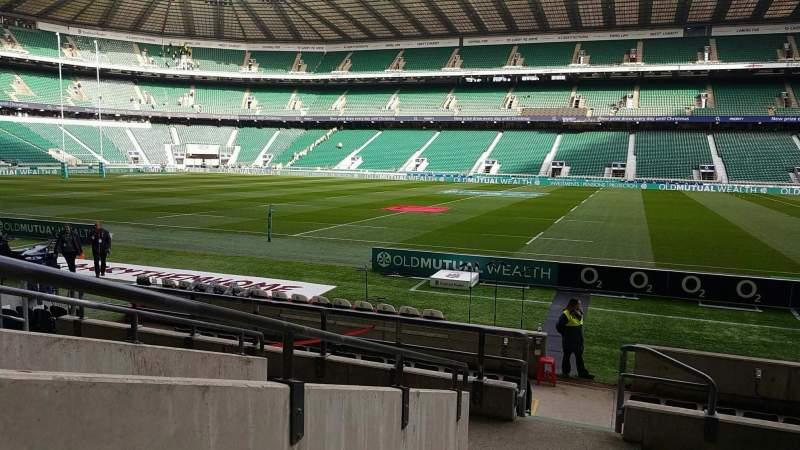 Uitzicht voor Twickenham Stadium Vak L5 Rij 14 Stoel 222