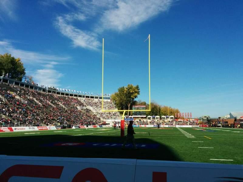 Uitzicht voor Percival Molson Memorial Stadium