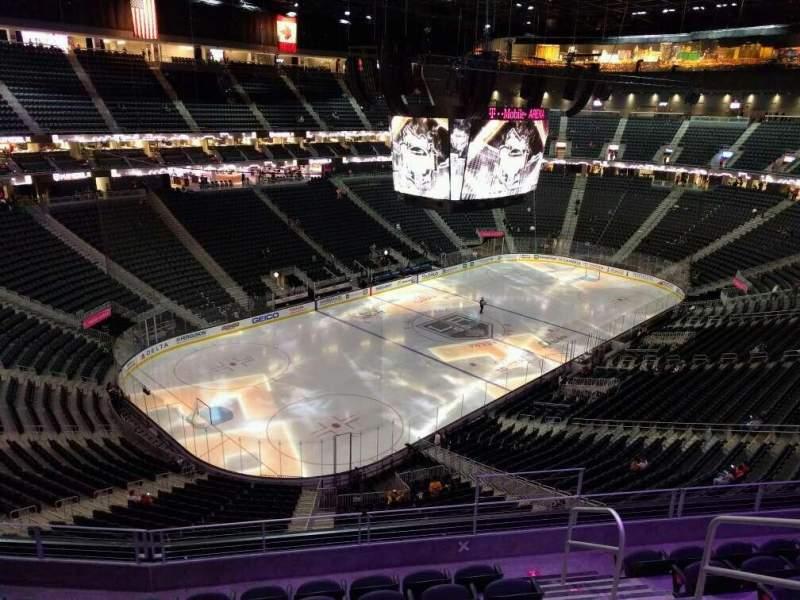 Uitzicht voor T-Mobile Arena Vak 218 Rij g Stoel 13