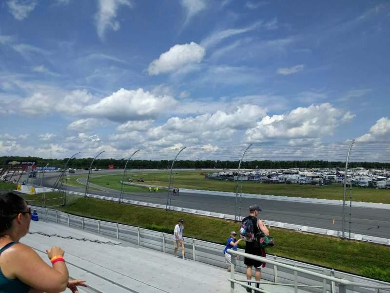 Pocono Raceway, vak: 142, rij: 15, stoel: 11