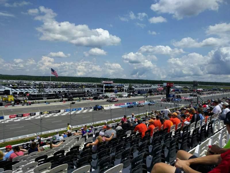 Pocono Raceway, vak: 234, rij: 39, stoel: 18