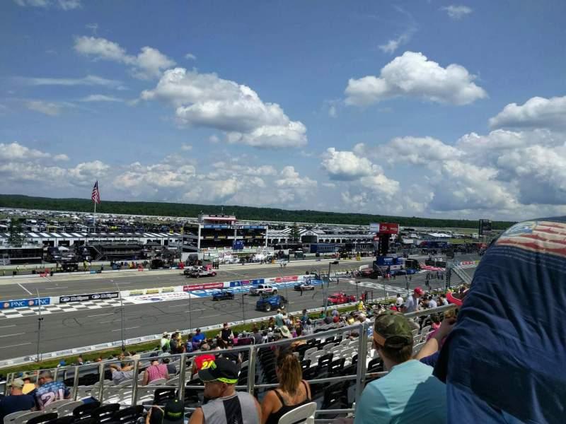 Pocono Raceway, vak: 232, rij: 40, stoel: 5