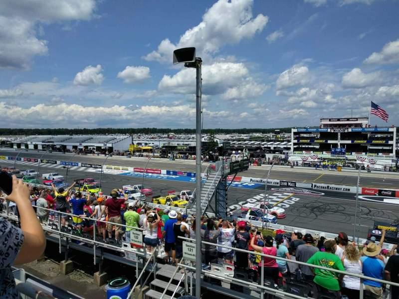 Pocono Raceway, vak: 225, rij: 19, stoel: 21