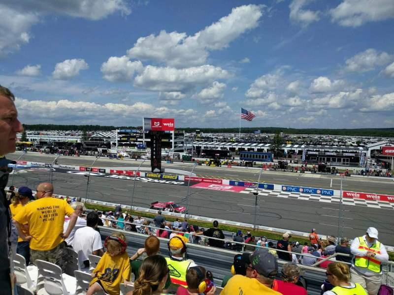 Pocono Raceway, vak: 220, rij: 23, stoel: 21