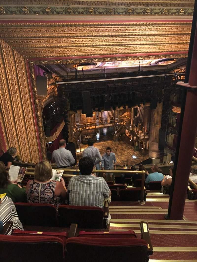 CIBC Theatre, vak: Balcony L, rij: L, stoel: 3