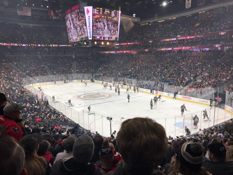 Uitzicht voor T-Mobile Arena Vak 19 Rij W Stoel 9