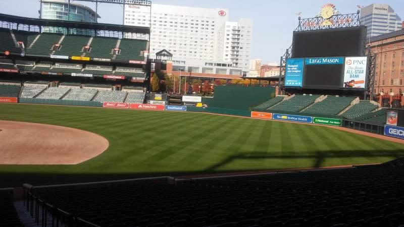 Oriole Park at Camden Yards, vak: 20, rij: 29, stoel: 1