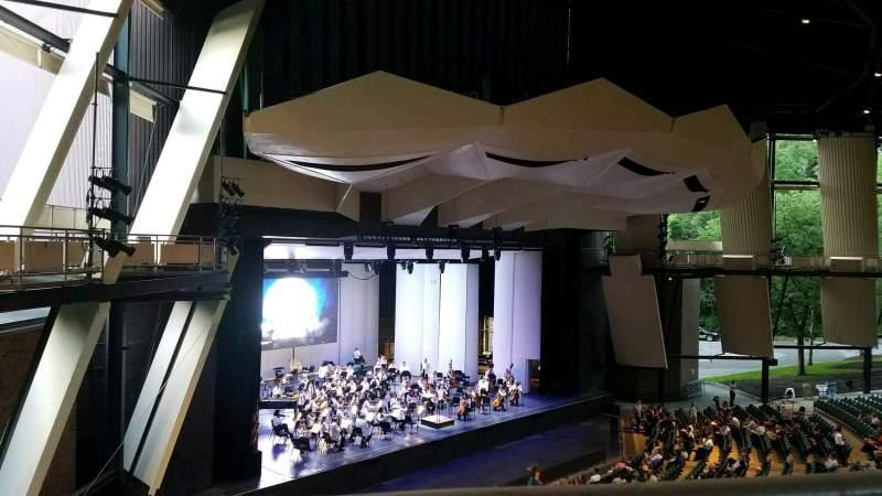 Uitzicht voor Saratoga Performing Arts Center Vak 19 Rij A Stoel 14