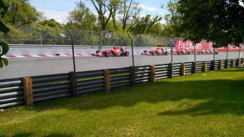 Uitzicht voor Circuit Gilles Villeneuve Vak ga