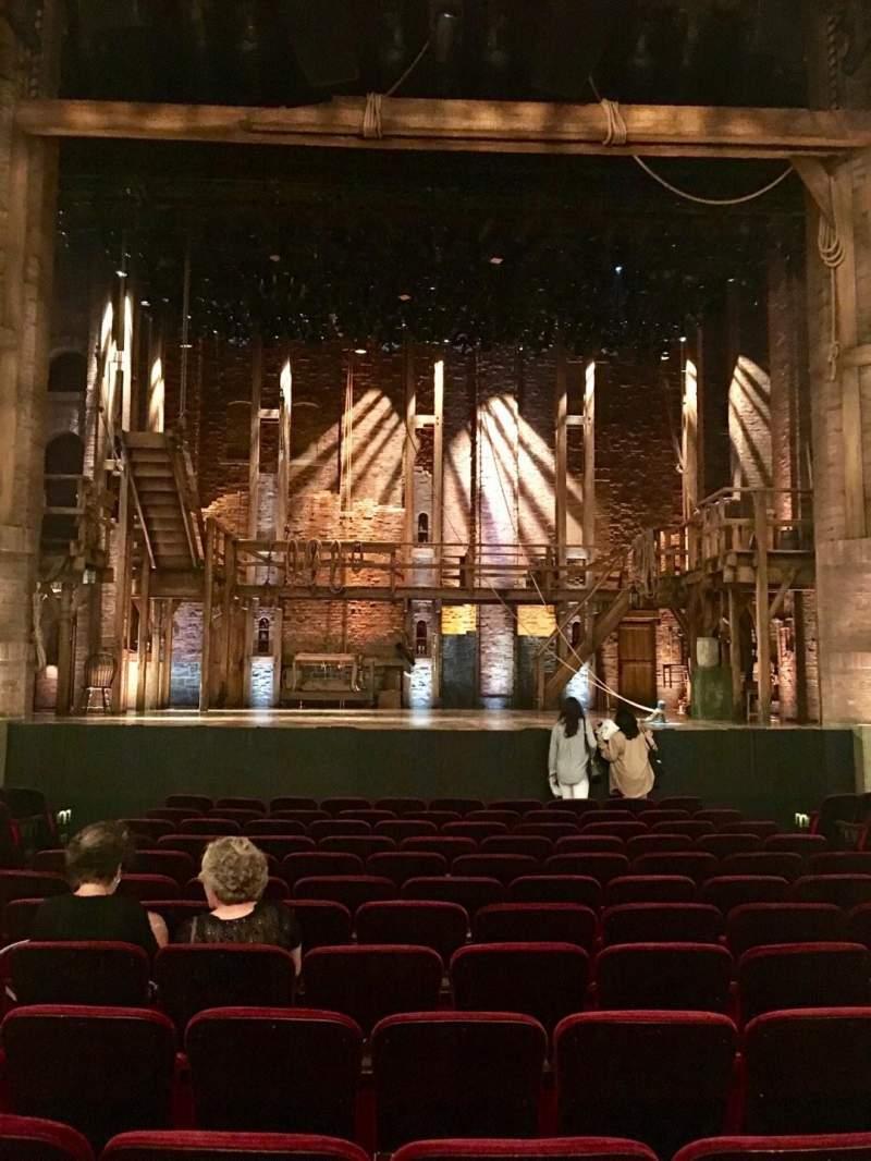 CIBC Theatre, vak: Orchestra C, rij: P, stoel: 106