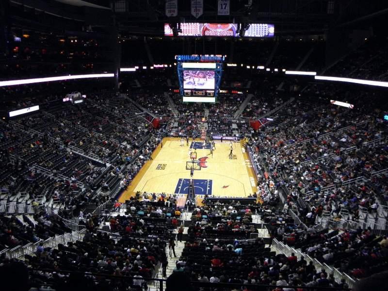 Philips Arena, vak: 318, rij: C, stoel: 7