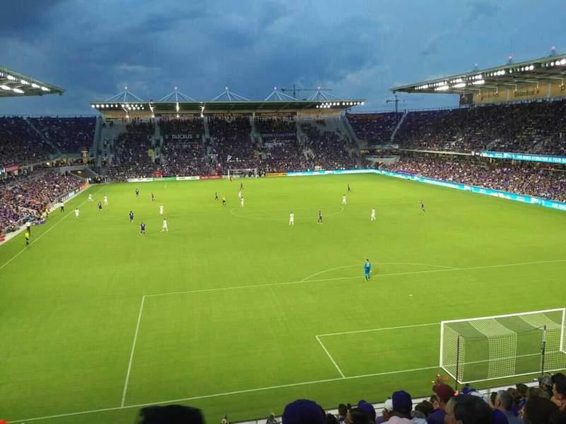 Orlando City Stadium, vak: 105, rij: L, stoel: 19