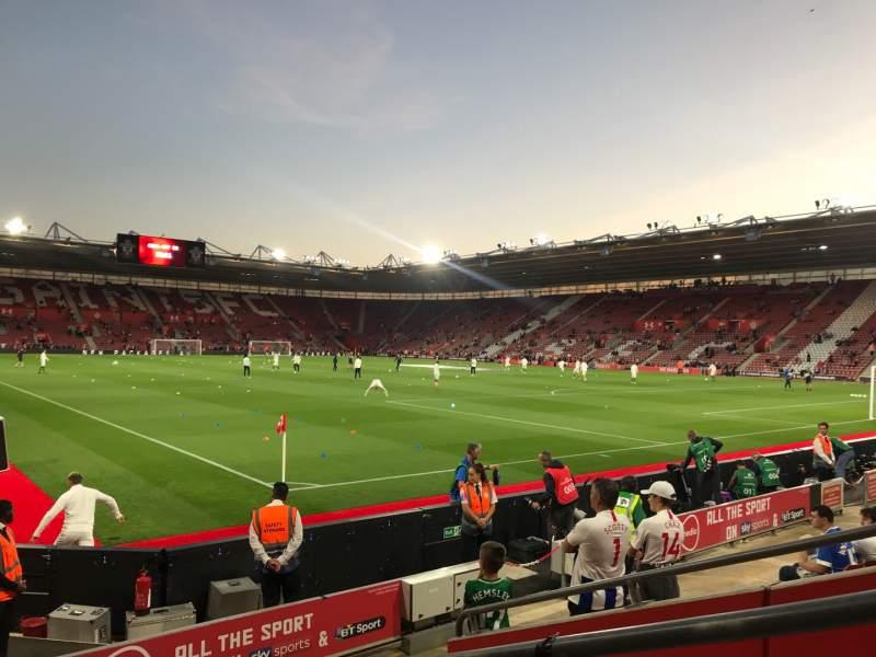 Uitzicht voor St Mary's Stadium Vak 4748 Rij H Stoel 1209