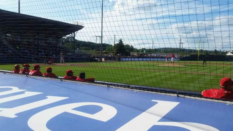 BB&T Ballpark at Historic Bowman Field, vak: s, rij: f, stoel: 5