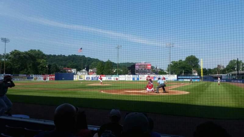 BB&T Ballpark at Historic Bowman Field, vak: j, rij: 8, stoel: 1