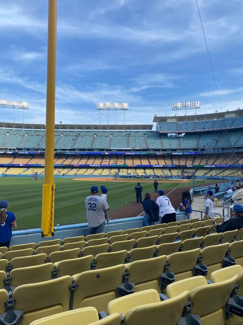 Uitzicht voor Dodger Stadium Vak 49FD Rij G Stoel 15
