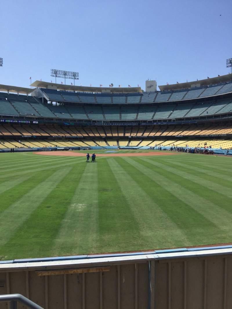 Uitzicht voor Dodger Stadium Vak 309PL Rij B Stoel 18