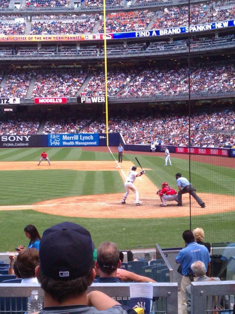 Yankee Stadium, vak: 122, rij: 15, stoel: 7