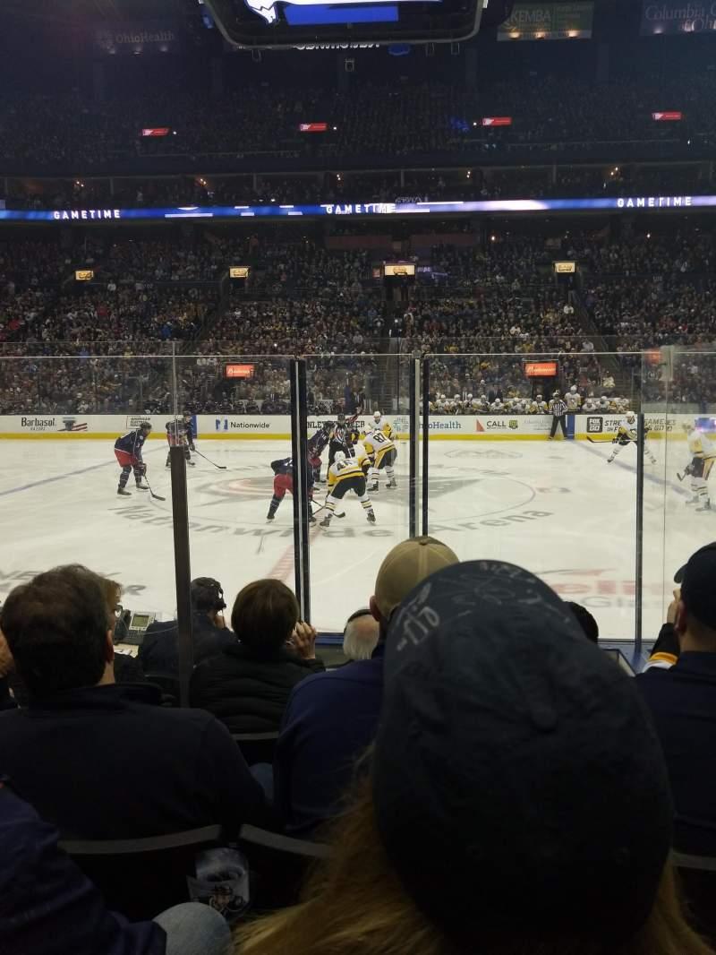 Nationwide Arena, vak: 114, rij: F, stoel: 16