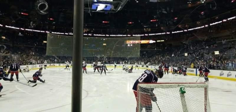 Nationwide Arena, vak: 120, rij: B, stoel: 11