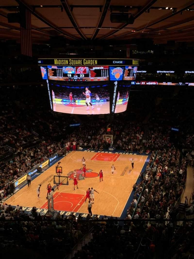 Uitzicht voor Madison Square Garden Vak 418 Rij 2 Stoel 8