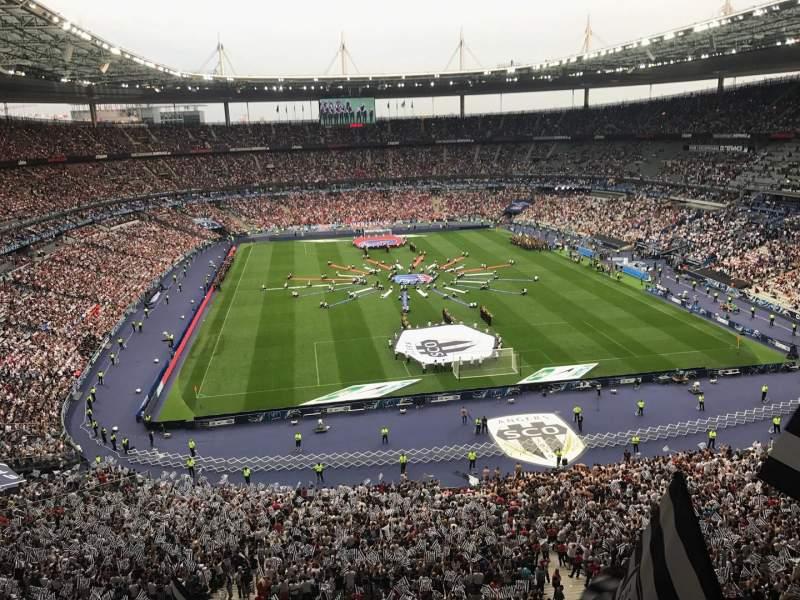 Uitzicht voor Stade de France Vak Nord Haute Rij L15 Stoel 67-1